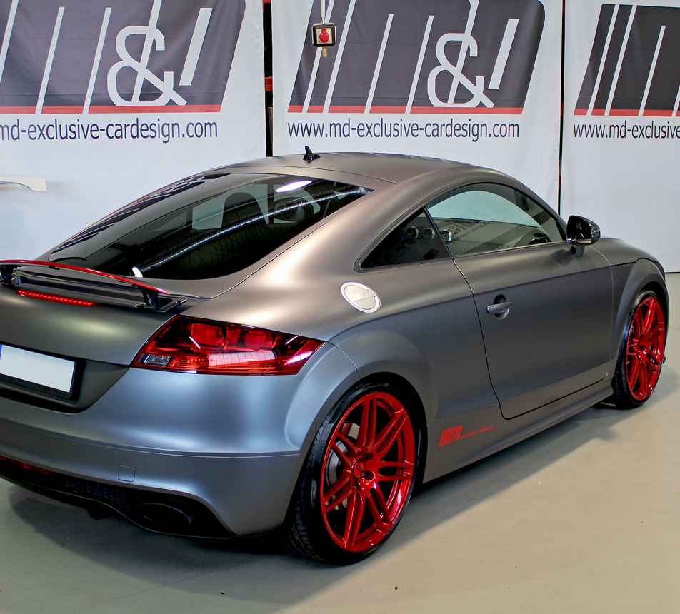 audi tt rs 8j vollfolierung in 3m satin dark grey. Black Bedroom Furniture Sets. Home Design Ideas