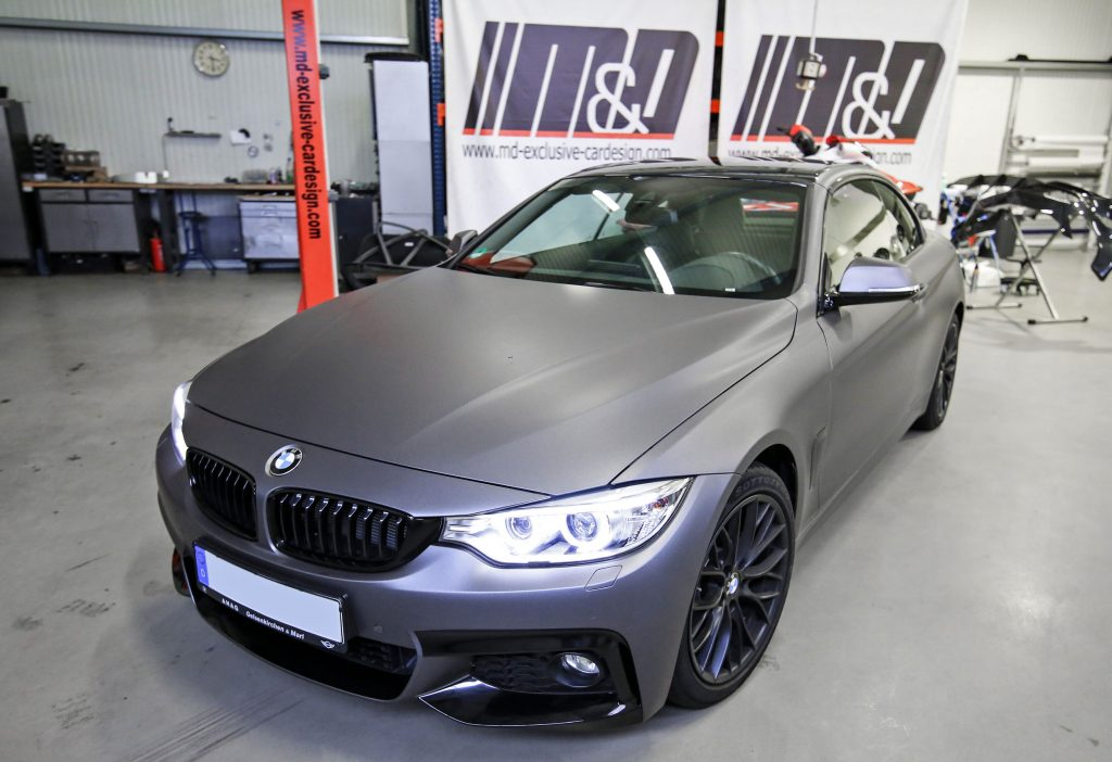 bmw 4er cabrio f32 premiumfolierung in bruxafol matt dark. Black Bedroom Furniture Sets. Home Design Ideas